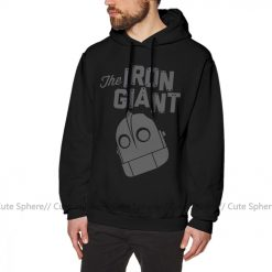 Iron Giant Hoodie Iron Giant Logo Hoodies Winter Long Pullover Hoodie Stylish Loose Grey Cotton Oversize 3