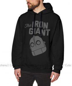 Iron Giant Hoodie Iron Giant Logo Hoodies Winter Long Pullover Hoodie Stylish Loose Grey Cotton Oversize 3