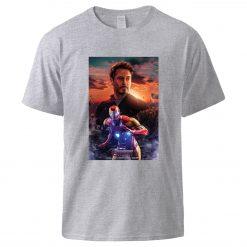 Iron Man Tony Stark Print T shirts Superhero Hip Hop Short Sleeve T shirt 2020 Man