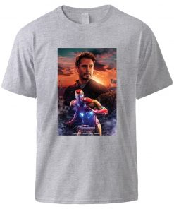 Iron Man Tony Stark Print T shirts Superhero Hip Hop Short Sleeve T shirt 2020 Man