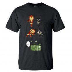 Iron Man Tony Stark Tshirt Men Batman Bruce Wayne T shirt Summer Tops Cotton Fusion Money 1