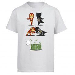Iron Man Tony Stark Tshirt Men Batman Bruce Wayne T shirt Summer Tops Cotton Fusion Money