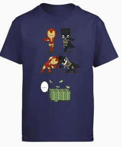 Iron Man Tony Stark Tshirt Men Batman Bruce Wayne T shirt Summer Tops Cotton Fusion Money 4