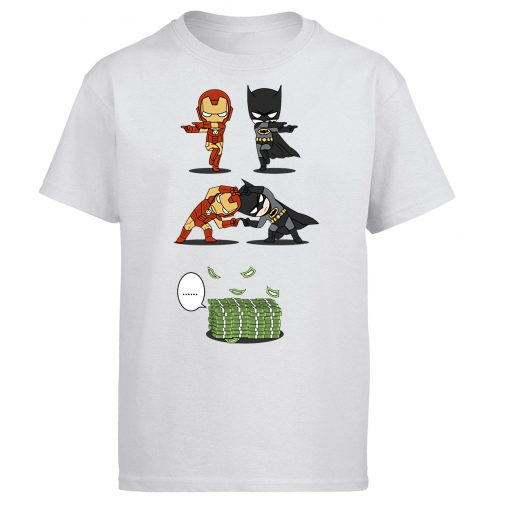 Iron Man Tony Stark Tshirt Men Batman Bruce Wayne T shirt Summer Tops Cotton Fusion Money
