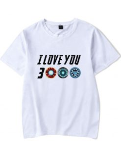 Iron Man Tshirt DAD I LOVE YOU 3000 Times Summer Boy Girl cotton White Wild T