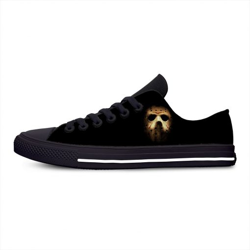 Jason Voorhees Friday the 13th Horror Hot Cool Casual Canvas Shoes Low Top Lightweight Breathable 3D 2