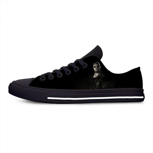 Jason Voorhees Friday the 13th Horror Hot Cool Casual Canvas Shoes Low Top Lightweight Breathable 3D 4