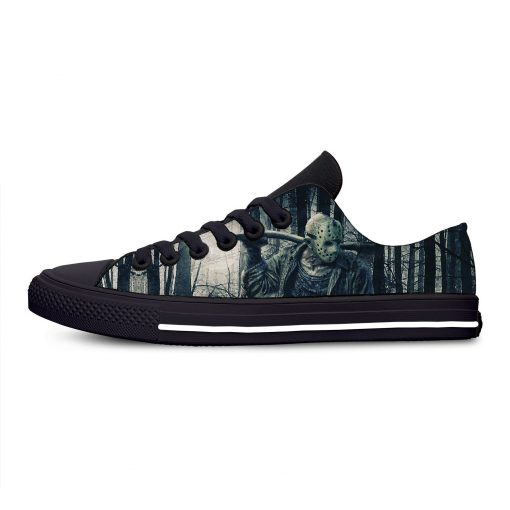 Jason Voorhees Friday the 13th Horror Hot Cool Casual Canvas Shoes Low Top Lightweight Breathable 3D