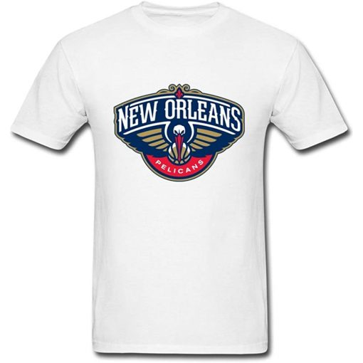 Jinnsa Men s Nab New Orleans Pelican Logo Short Sleeve T Shirt