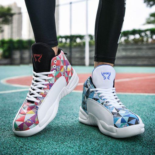 Jordan Shoes Men s Basketball Shoes High Top Anti skid Boots Men Women Sports Shoes Basket 4