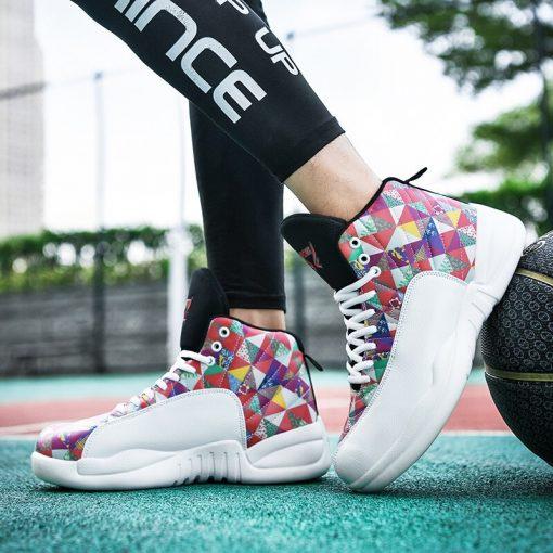 Jordan Shoes Men s Basketball Shoes High Top Anti skid Boots Men Women Sports Shoes Basket 5