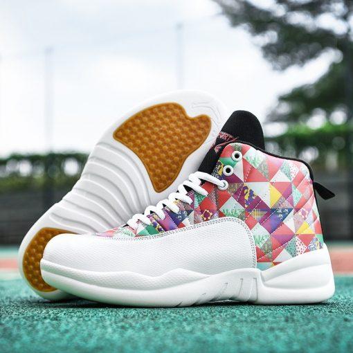 Jordan Shoes Men s Basketball Shoes High Top Anti skid Boots Men Women Sports Shoes Basket