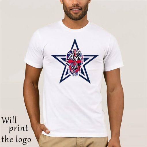 Kids Boys Girls Tshirt Dallas cowboys Skull White