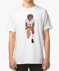 Kneeling Kaepernick T Shirt Colin Kaepernick Kaepernick Minimalist Kneeling Black Rights Equality Football 49ers San Francisco