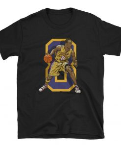 Kobe Bryant Los Angeles Basketball Throwback Laker T Shirt
