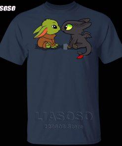 LIASOSO Summer T Shirt Men Women T shirt 3D Print Dragon Fury Baby Yoda T Shirt 1
