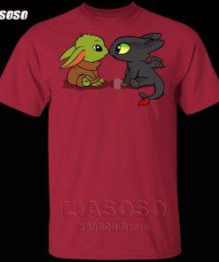 LIASOSO Summer T Shirt Men Women T shirt 3D Print Dragon Fury Baby Yoda T Shirt 2
