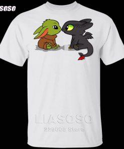 LIASOSO Summer T Shirt Men Women T shirt 3D Print Dragon Fury Baby Yoda T Shirt