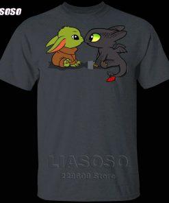 LIASOSO Summer T Shirt Men Women T shirt 3D Print Dragon Fury Baby Yoda T Shirt 4