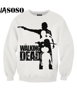 LIASOSO Sweatshirt Harajuku Hoodies 3D Print The Walking Dead Men Women Casual Pullovers Hip Hop O