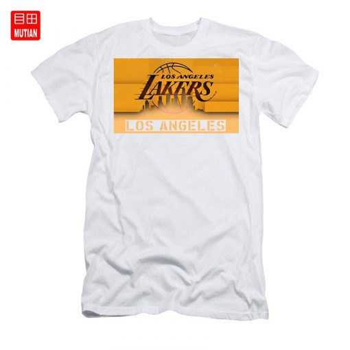 Lakers Shadows T Shirt los angeles usa text typography explosion home decor decorative sport illustration poster 1