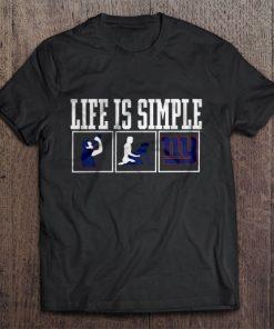 Life Is Simple Drink Sex And New Streetwear Harajuku York 100 Cotton Men S Tshirt Giants