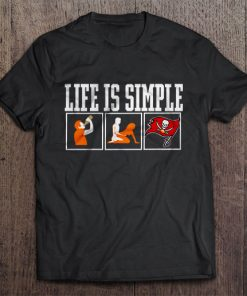 Life Is Simple Drink Sex And Tampa Streetwear Harajuku Bay 100 Cotton Men S Tshirt Buccaneers