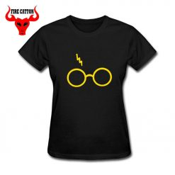 Lightning Glasses T shirt Girls Streetwear Harry Flash Glasses Graphic T Shirt Women Femme Potter lovers 1