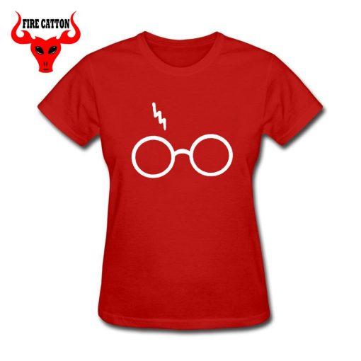 Lightning Glasses T shirt Girls Streetwear Harry Flash Glasses Graphic T Shirt Women Femme Potter lovers 2
