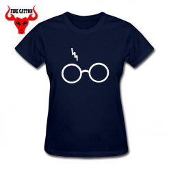 Lightning Glasses T shirt Girls Streetwear Harry Flash Glasses Graphic T Shirt Women Femme Potter lovers 3