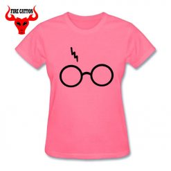 Lightning Glasses T shirt Girls Streetwear Harry Flash Glasses Graphic T Shirt Women Femme Potter lovers 4