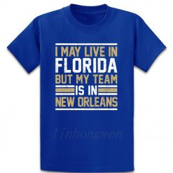 Live In Florida My Team Is In New Orleans T Shirt Graphic Tee Shirt Designing Standard 2