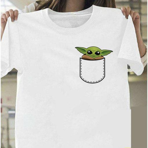 Lovely Baby Yoda T Shirt 2020 Summer Mandalorian T Shirt fashion woman Funny Cartoon The Child 3