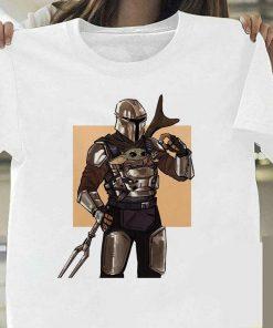 Lovely Baby Yoda T Shirt 2020 Summer Mandalorian T Shirt fashion woman Funny Cartoon The Child 4