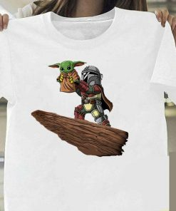 Lovely Baby Yoda T Shirt 2020 Summer Mandalorian T Shirt fashion woman Funny Cartoon The Child 5