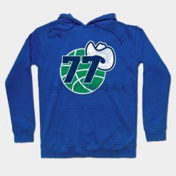 Luka Doncic Retro Dallas logo by epicfandom0 Streetwear men women Hoodies Sweatshirts