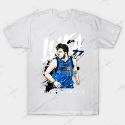 Luka Doncic T Shirt basketball team basketball player dirk nowitzki luka hottest basketball player 1