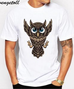 M210 New Creative Design Harry Owly Potter Owl T shirt Fashion Print T shirt short sleeve