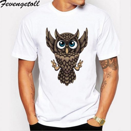 M210 New Creative Design Harry Owly Potter Owl T shirt Fashion Print T shirt short sleeve