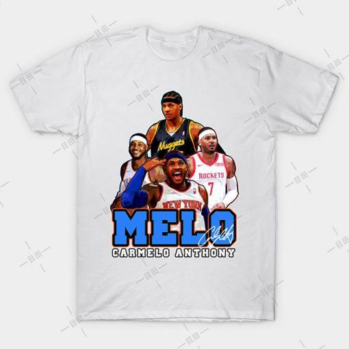 MELO T shirt Carmelo Anthony tee nyc knickstape ny newyork basketball knicks new york melo knickerbockers 1