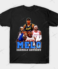 MELO T shirt Carmelo Anthony tee nyc knickstape ny newyork basketball knicks new york melo knickerbockers