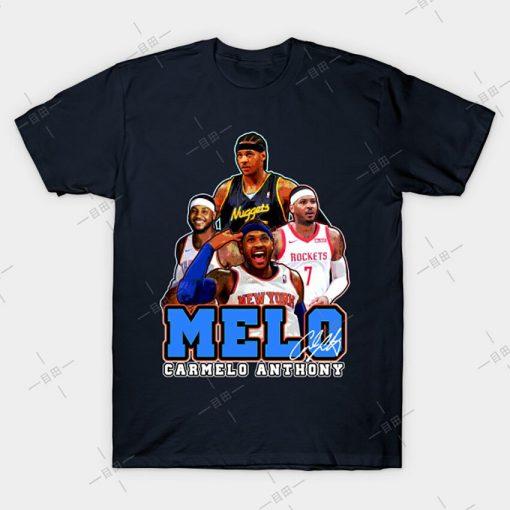 MELO T shirt Carmelo Anthony tee nyc knickstape ny newyork basketball knicks new york melo knickerbockers 4