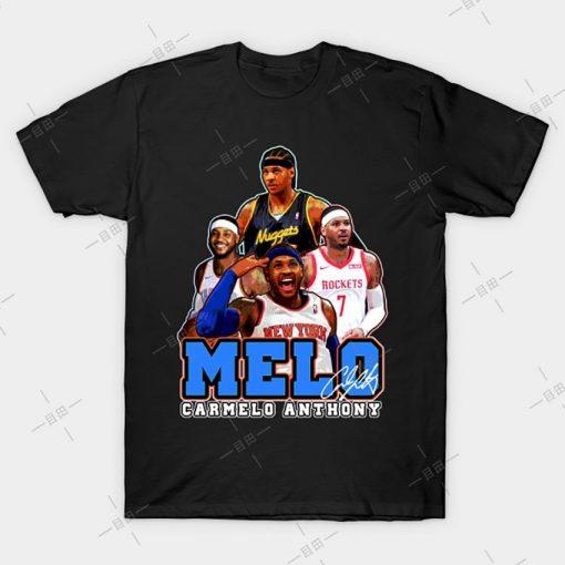 MELO T shirt Carmelo Anthony tee nyc knickstape ny newyork basketball knicks new york melo knickerbockers