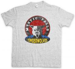 MYSTIC FALLS TIMBERWOLVES T SHIRT Vampire Football Team Diaries Sign Logo