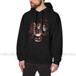 Man Hooded Sweatshirt Super Villains Halloween Friday The 13th Horror Vintage Hoodie Jason Voorhees Michael Myers 1