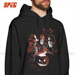 Man Hooded Sweatshirt Super Villains Halloween Friday The 13th Horror Vintage Hoodie Jason Voorhees Michael Myers