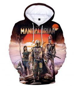 Mandalorian Hoodie Men Women Casual Baby Yoda Hoodies Sweatshirts Streetwear Hip Hop Pullovers Custom 3D Printed 1