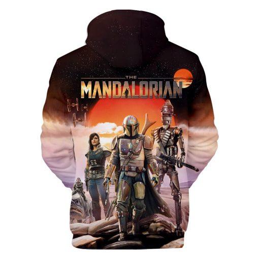 Mandalorian Hoodie Men Women Casual Baby Yoda Hoodies Sweatshirts Streetwear Hip Hop Pullovers Custom 3D Printed 2