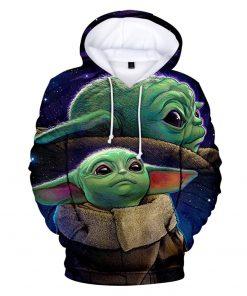 Mandalorian Hoodie Men Women Casual Baby Yoda Hoodies Sweatshirts Streetwear Hip Hop Pullovers Custom 3D Printed