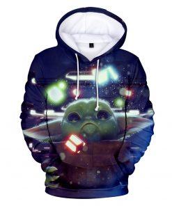 Mandalorian Hoodie Men Women Casual Baby Yoda Hoodies Sweatshirts Streetwear Hip Hop Pullovers Custom 3D Printed 4